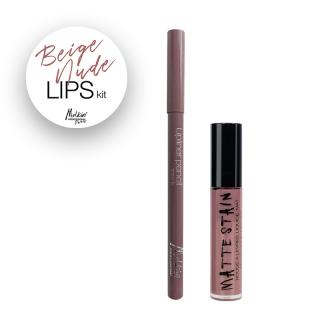 SET BEIGE NUDE LIPS