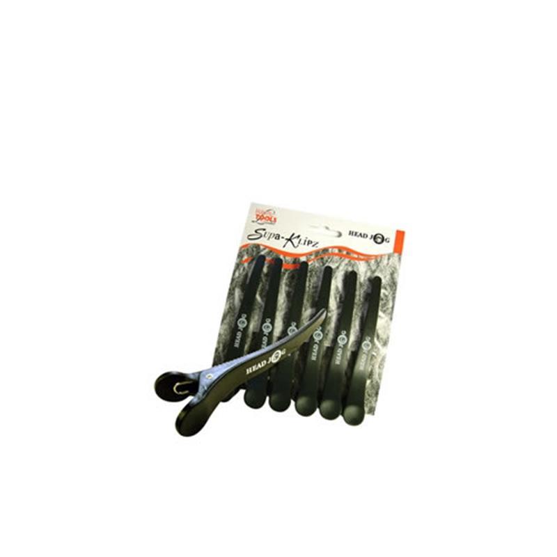 SUPER CLIPSURI PLASTIC H.J. NEGRE 13.5CM X 6 BUC