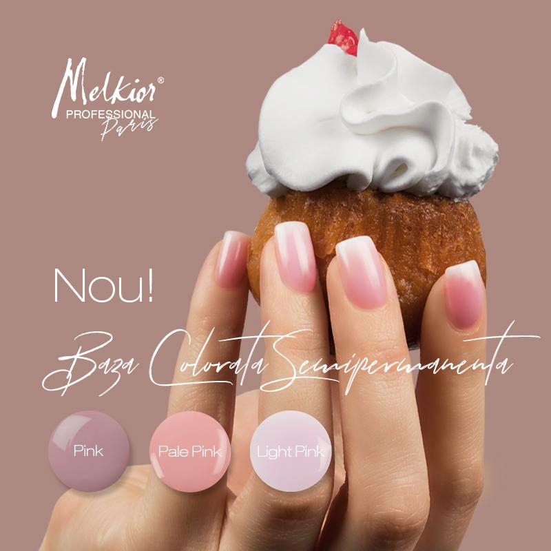Noile Baze Colorate Semipermanente sunt ideale pentru manichiura French