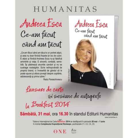 Melkior recomanda cartea Andreei Esca `Ce-am facut cand am tacut`